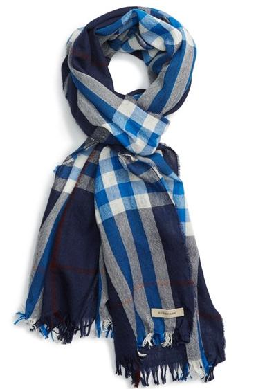 Burberry Check Print Wool & Cashmere Scarf On Sale @ Nordstrom