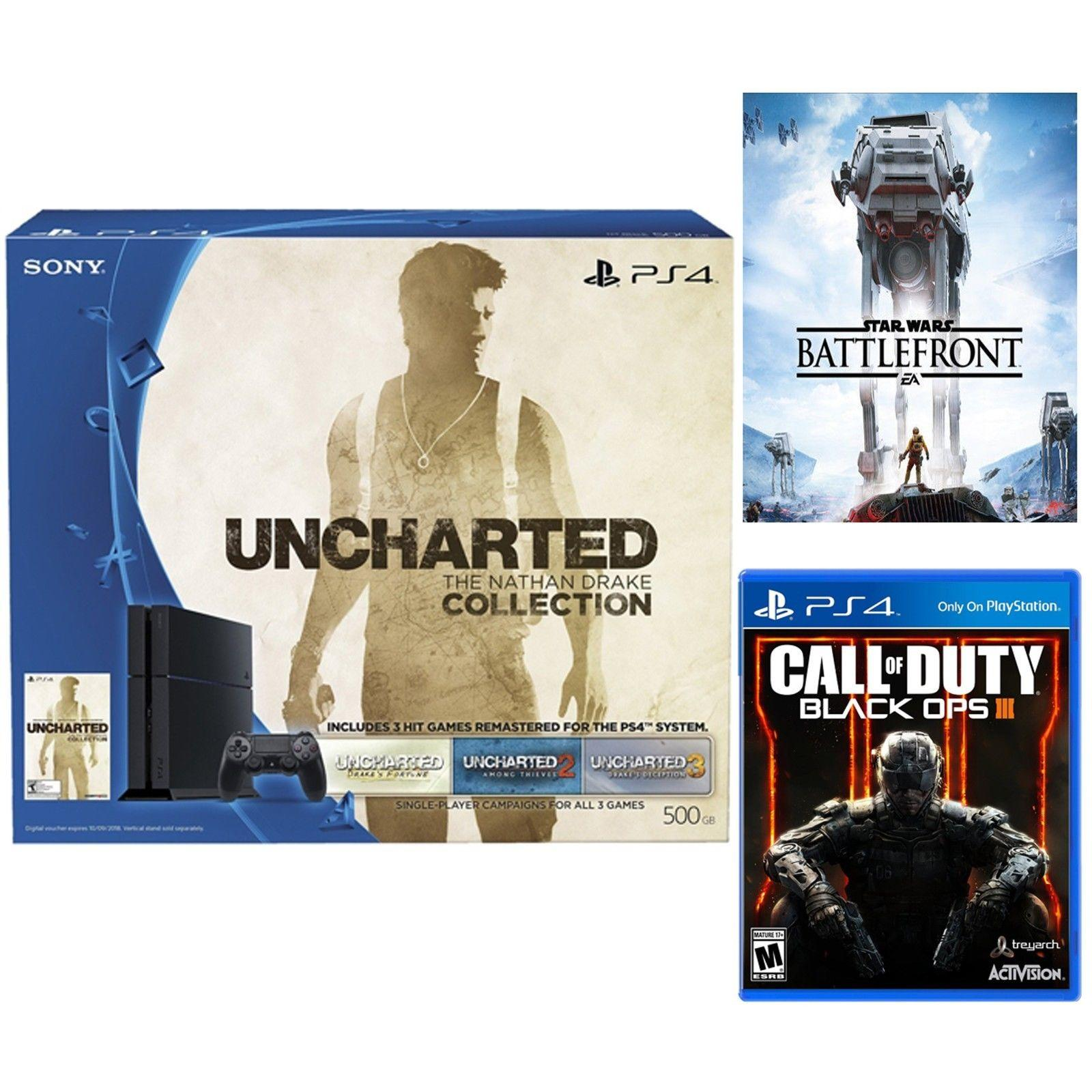 Sony PS4 500GB Star Wars Console + Uncharted + Call of Duty Black Ops III