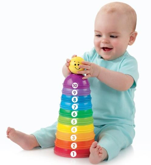 Fisher-Price Brilliant Basics Stack & Roll Cups @ Amazon