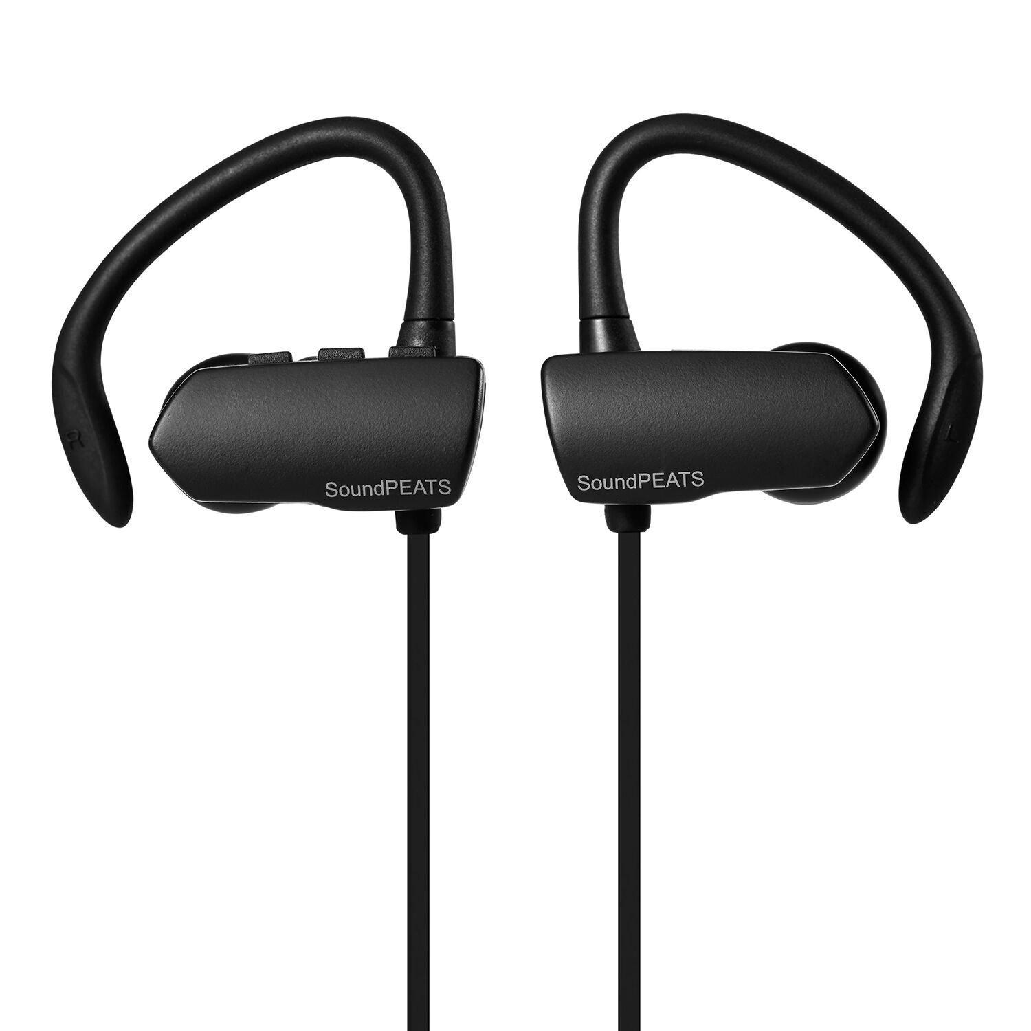 SoundPEATs Q9A Wireless Bluetooth Sweatproof Secure Fit Earbuds