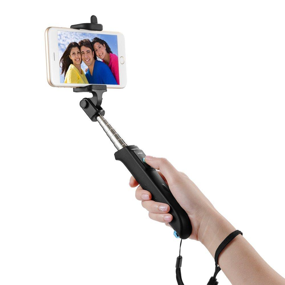Anker Bluetooth Selfie Stick w/ Built-in Bluetooth Remote Shutter