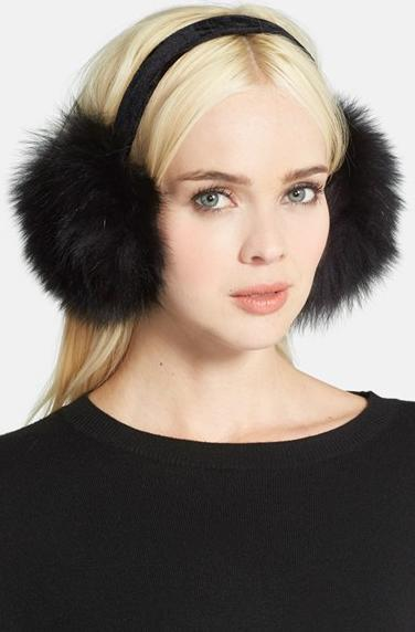 KYI KYI Genuine Fox Fur Earmuffs On Sale @ Nordstrom