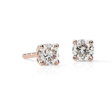 The Diamond Stud Earrings in 14K Rose Gold (3/8 cttw)