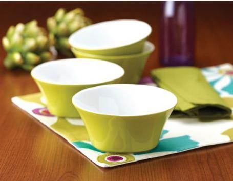 Rachael Ray Round and Square Cereal Bowls, Set of 4