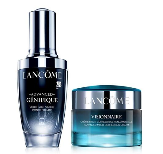 $115+Free 10pc Gift Set Lancôme Advanced Genifique & Visionnaire Dual Pack