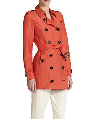 Burberry London Belleval Linen Trench Coat
