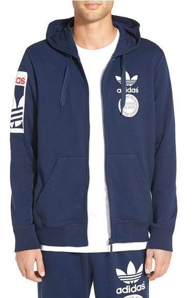 adidas Originals Graphic Full-Zip Hoodie On Sale @ Nordstrom