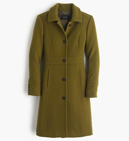 DOUBLE-CLOTH LADY DAY COAT WITH THINSULATE