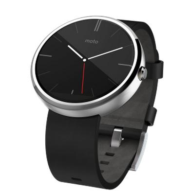 Moto 360 Black and Stainless Steel