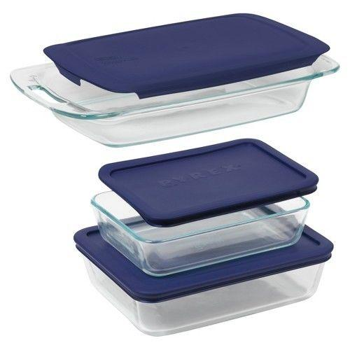 Pyrex 6 Piece Bake N' Storage Value Pack