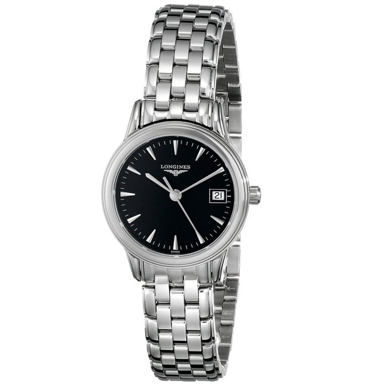 Extra 20% Off Longines Flagship Black Dial Stainless Steel Mens Watch L47164526