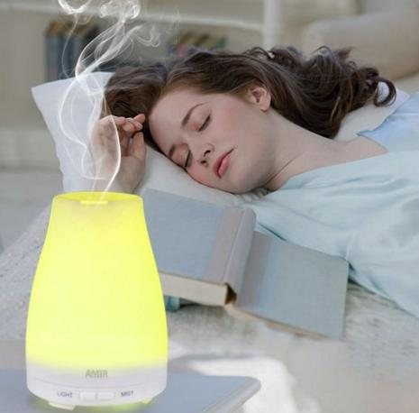 $19.99 Essential Oil Diffuser, Amir® Ultrasonic Aromatherapy Oil Diffuser Cool Mist Aroma Humidifier With Color LED Lights