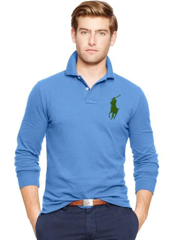 CUSTOM-FIT BIG PONY POLO @ Ralph Lauren