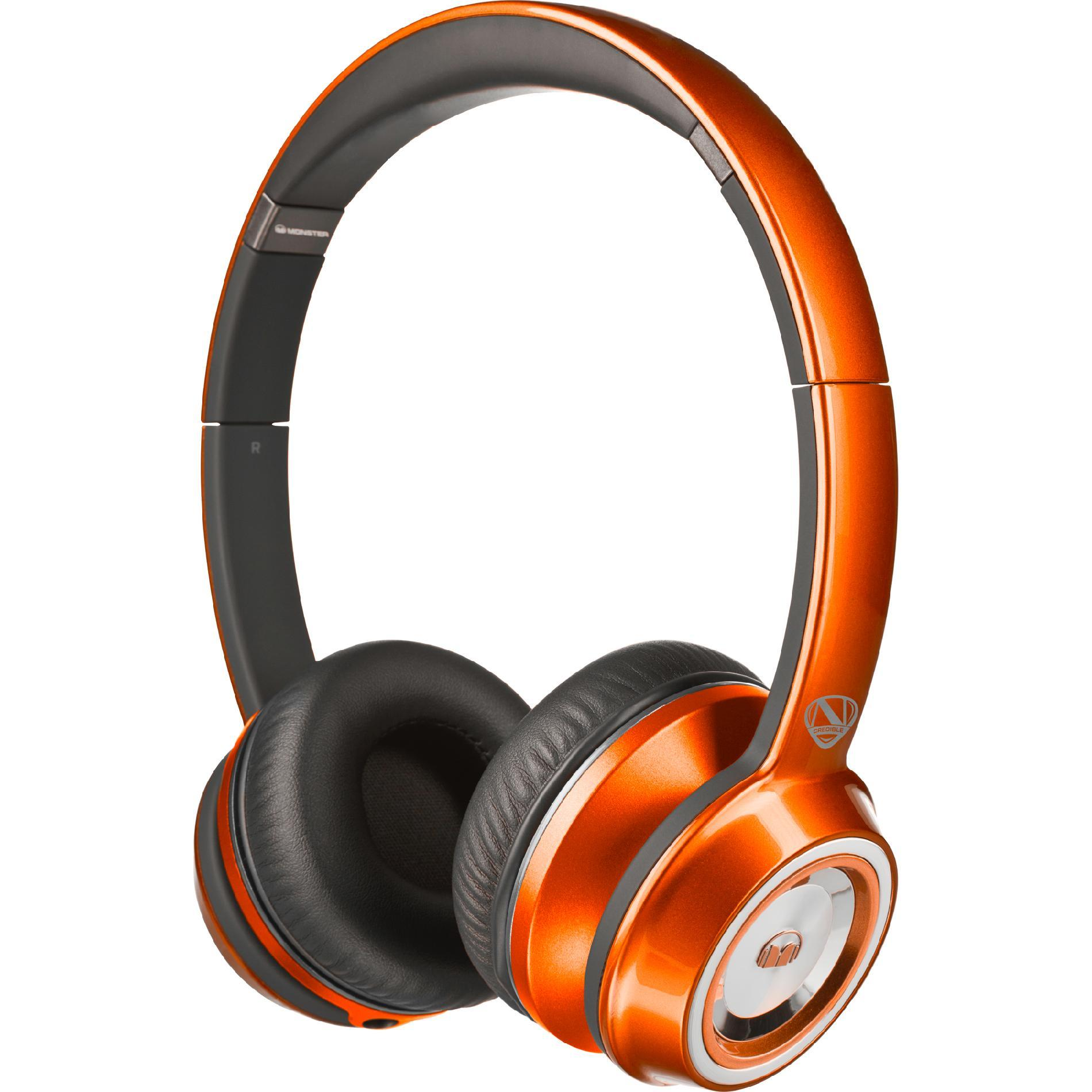 Monster NTune On-Ear Headphones Candy Tangerine