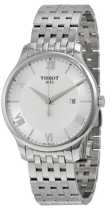 $209.99 TISSOT Tradition Men's Silver Dial Stainless Steel Men's Watch
