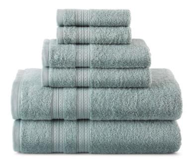 2 for $25.98 Home Expressions 6-pc. Solid Bath Towel Set, Multiple colors