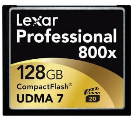Lowest price! $69.95 Lexar LCF128CRBNA800 Professional 800x 128GB VPG-20 CompactFlash Card