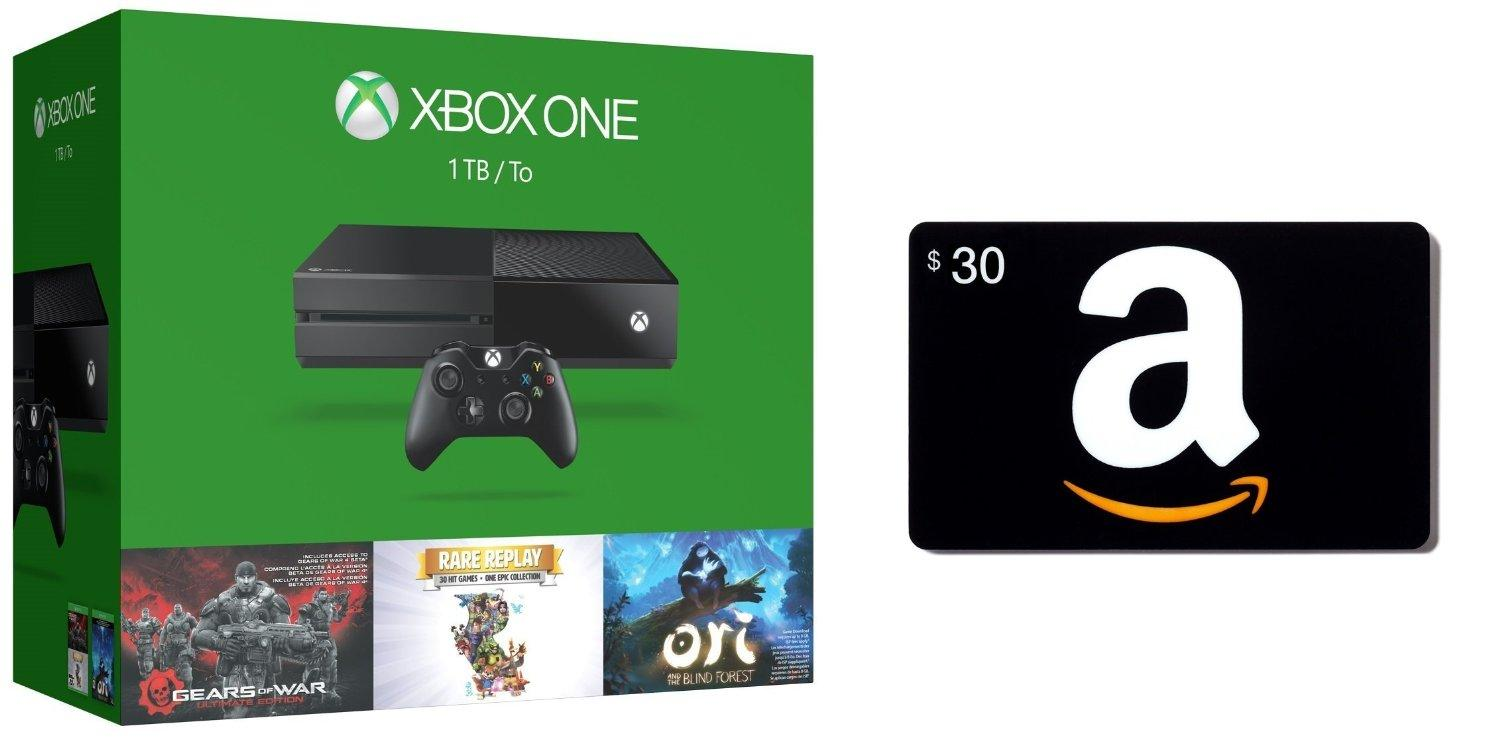Xbox One 1TB Console - 3 Games Holiday Bundle + Amazon.com $30 GC