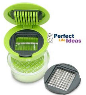 Perfect Life Ideas Garlic Press Mini Chopper Garlic Mincer Slicer Dicer Grater Miniature Alligator Chopper Press