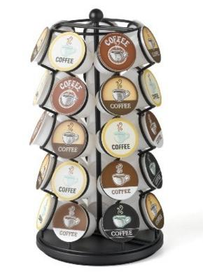 Nifty K-Cup Carousel - Holds 35 K-Cups in Black