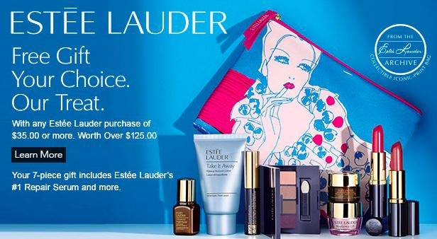 Free 7 Pc Gift Set($125 Value) With $35 Estee Lauder Purchase @ Dillard's