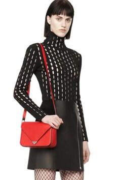 ALEXANDER WANG Mini Prisma Envelope Sling Cult Red Crossbody Bag @ FORZIERI