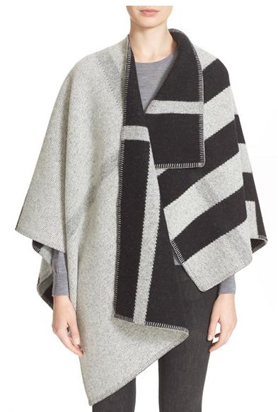Burberry Brit Check Wool & Cashmere Cape @ Nordstrom