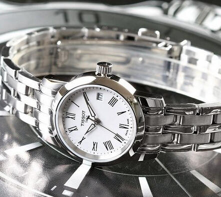 Tissot T-Classic Dream White Dial Stainless Steel Ladies Watch T033.210.11.013.00