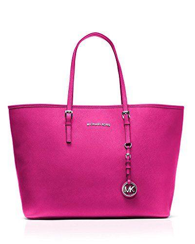 MICHAEL Michael Kors  Jet Set Travel Medium Tote Bag, Raspberry