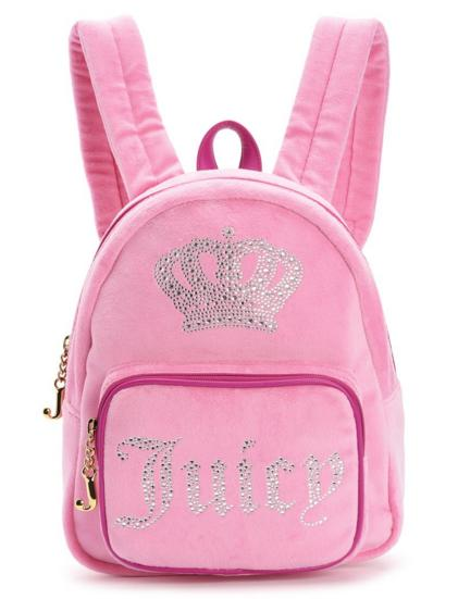 JUICY CROWN VELOUR MINI BACKPACK