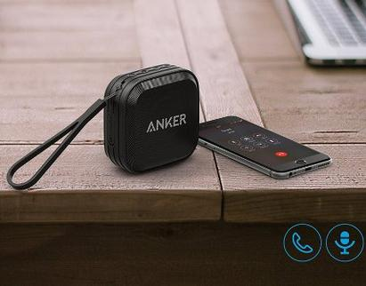 Anker SoundCore Sport Bluetooth Speaker with Enhanced Bass and Built-In Microphone