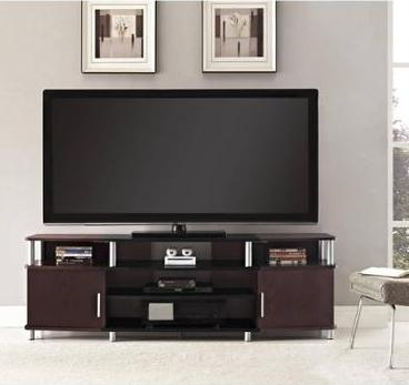 Altra Carson XL Black and Cherry TV Stand for TVs up to 70
