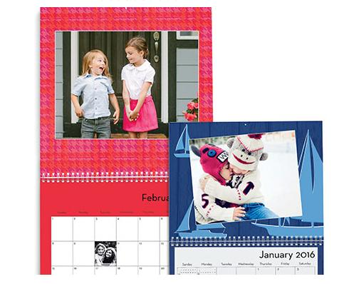 Free + $6.99 Shipping 8x11 Photo Wall Calendar (12 months)
