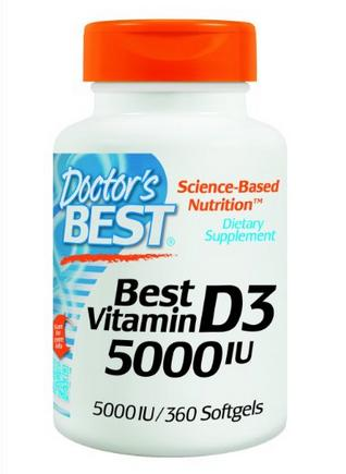 Doctor's Best Vitamin D3 5000iu Soft-gels, 360-Count