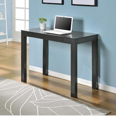 $49 Altra Parsons Study Desk with Drawer, Black Finish