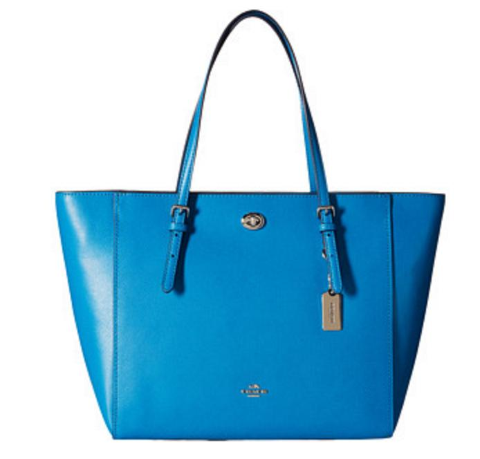 COACH Crossgrain Updated Turnlock Tote