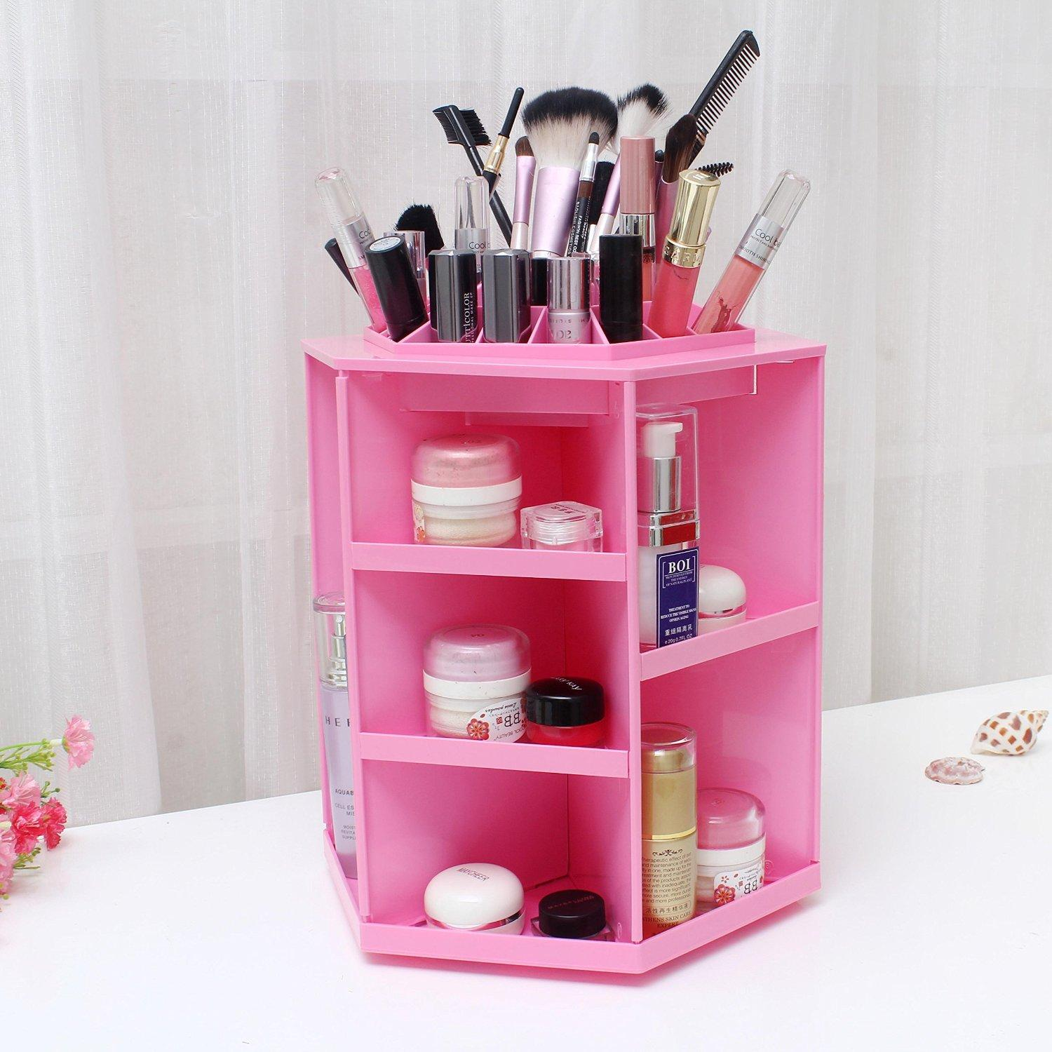 $38.99 ECVISION Rotating Acrylic Cosmetic Storage