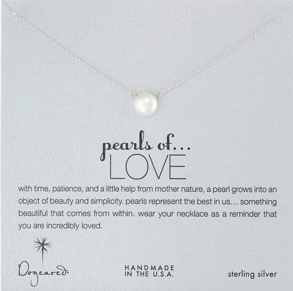 $30.80 Dogeared Pearls of Love  Silver Grey Necklace