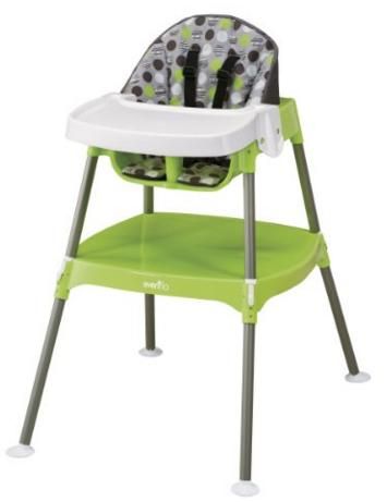 Evenflo Convertible High Chair, Dottie Lime @ Amazon