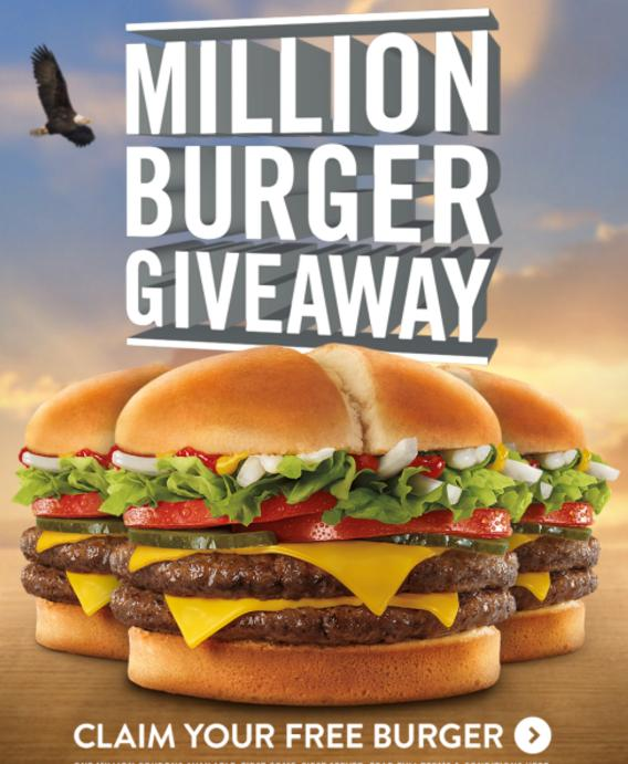 Free Jack In The Box Jumbo Jack Burger or Double Jack Burger GIVE AWAY
