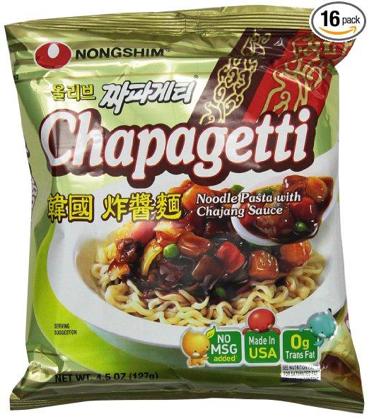 $15.19 Nongshim Chapagetti Chajang Noodle, 4.5 Ounce (Pack of 16)
