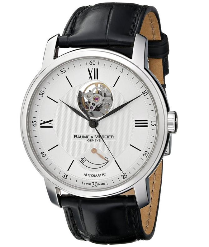 $2084.50 Baume & Mercier Men's MOA08869 Automatic Stainless Steel with Synthetic leather Black Crocodile Band Watch