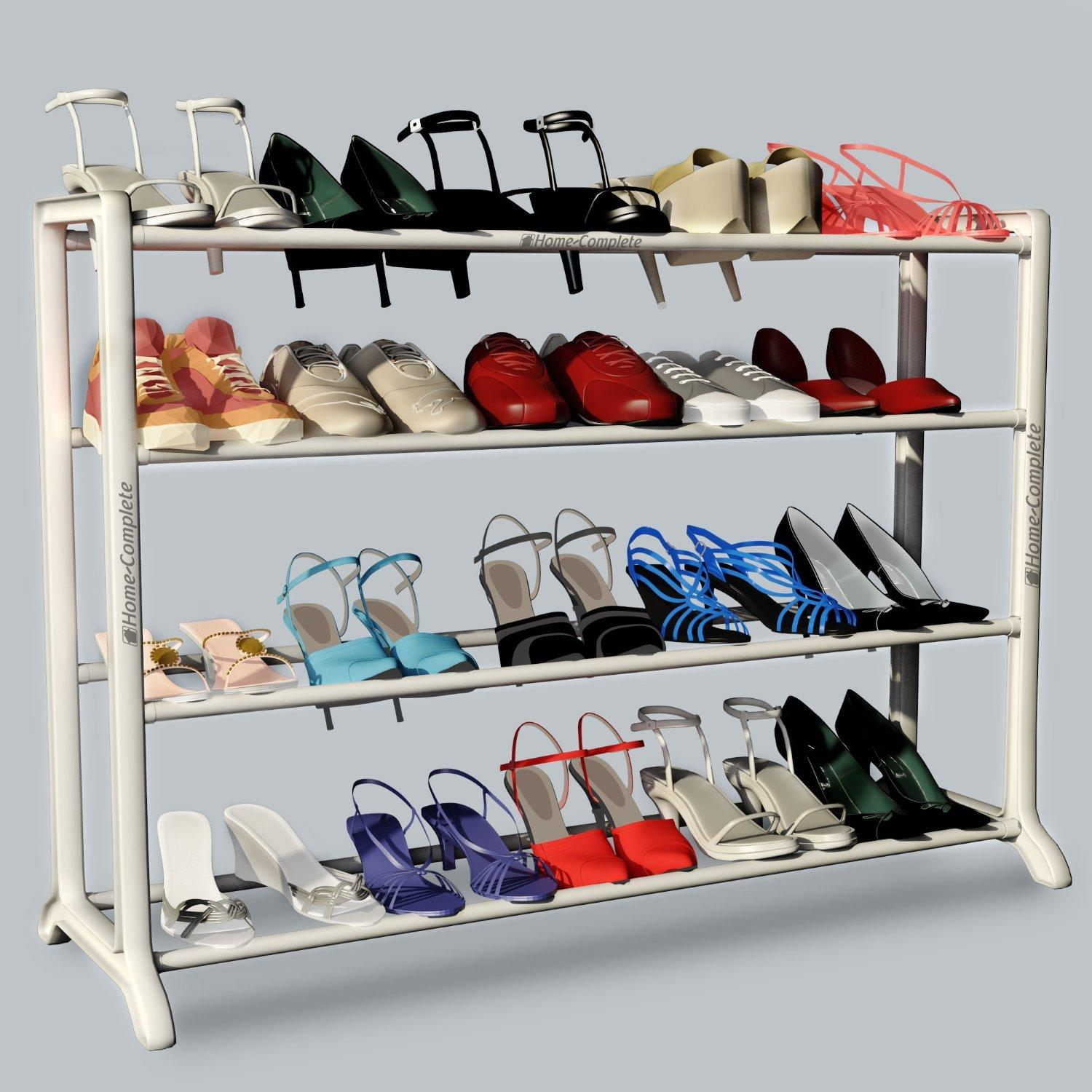 $12.99 Neatlizer Shoe Rack Organizer Storage Bench, Store up to 20 Pairs for Closet Cabinet or Entryway