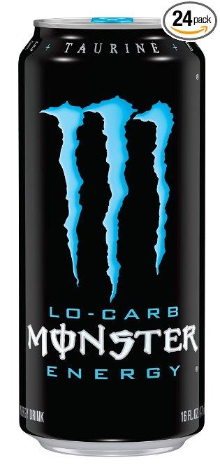 Monster Energy Drink, Lo-Carb, 16 Ounce Cans (Pack of 24)