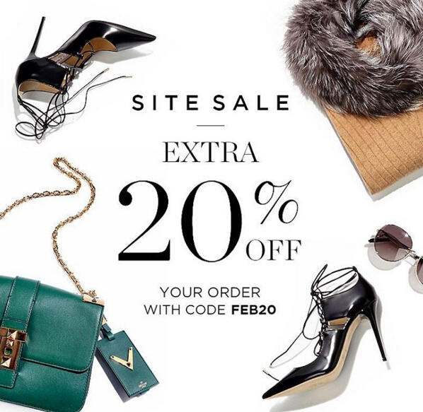 Extra 20% Off Your Order @Bluefly