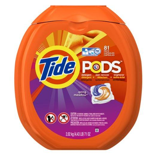 $15.23 Tide PODS Spring Meadow HE Turbo Laundry Detergent Pacs 81-load Tub