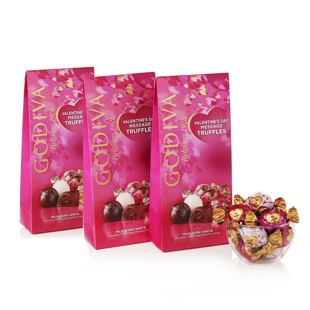 Valentines Day Wrapped Assorted Truffles (Set of 3)