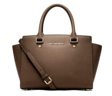 MICHAEL MICHAEL KORS  Selma Saffiano Leather Medium Satchel