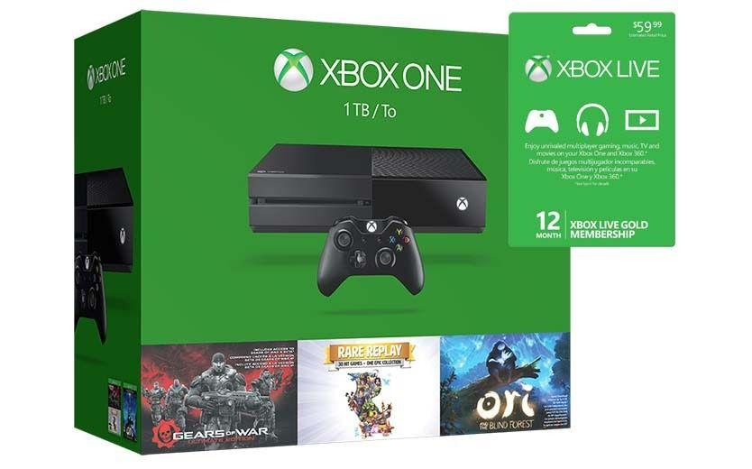Xbox One 1TB Holiday Value Bundle with 1 Year XBox Live Membership Card