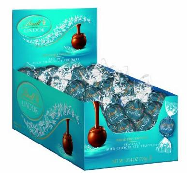 $15.88 Lindt LINDOR Sea Salt Milk Chocolate Truffles, 60 Count Box @ Amazon